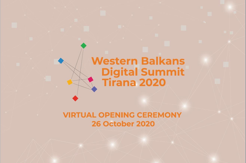 Tirana to host the 3rd Western Balkans Digital Summit, taking place 26 October - 2 November 2020