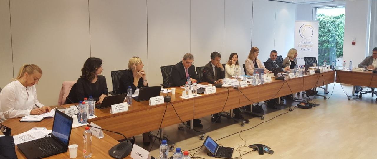 SEE 2020 Monitoring Committee discusses initial findings of the SEE 2020 Strategy Annual Report on Implementation at its 4th meeting in Brussels, 30 May 2017 (Photo: RCC/Nedima Hadziibrisevic)