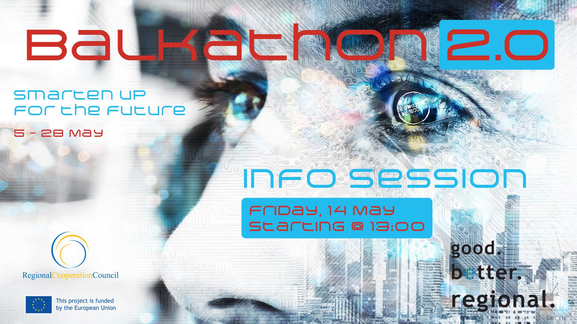 Balkathon 2.0 Info Session to take place on Friday, 14 May 2021 (Design: RCC/Samir Dedic)