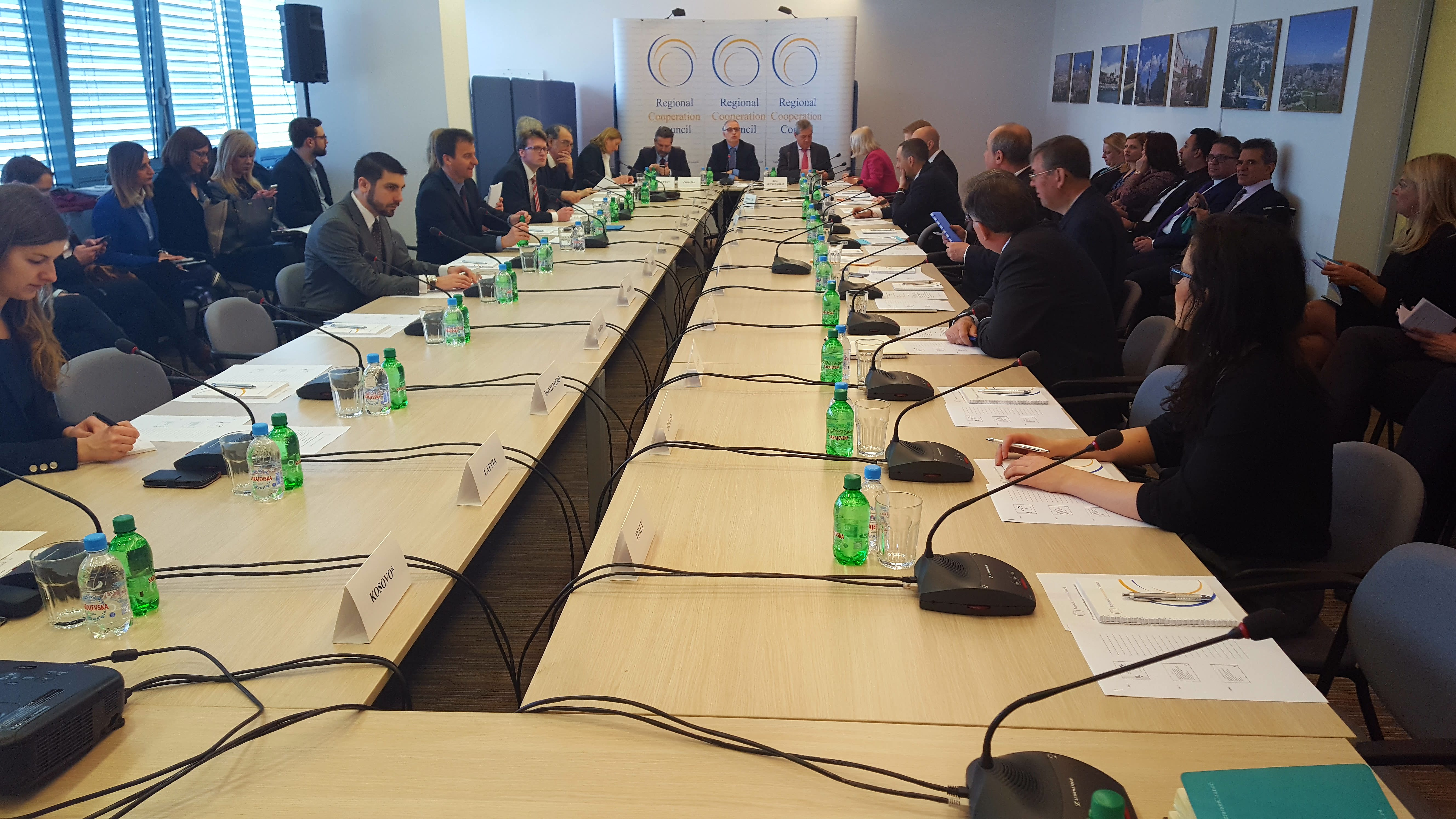 31st meeting of the RCC Board, on 15 March 2017 in Sarajevo, BiH. (Photo: RCC/Selma Ahatovic-Lihic)