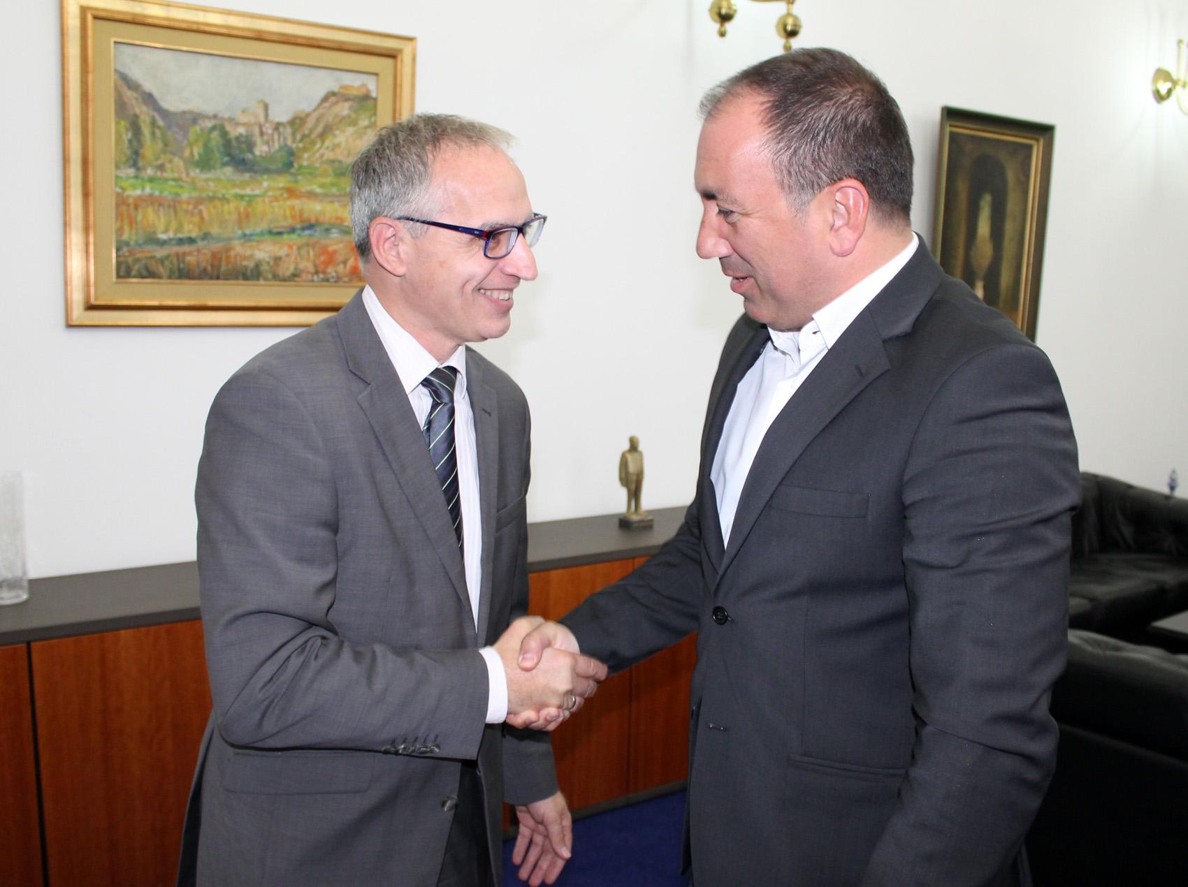 RCC Secretary General, Goran Svilanovic at his first official visit to the Minister of Foreign Affairs of BiH, Igor Crnadak (Photo: MFA of Bosnia and Herzegovina/Jasmin Gagula)