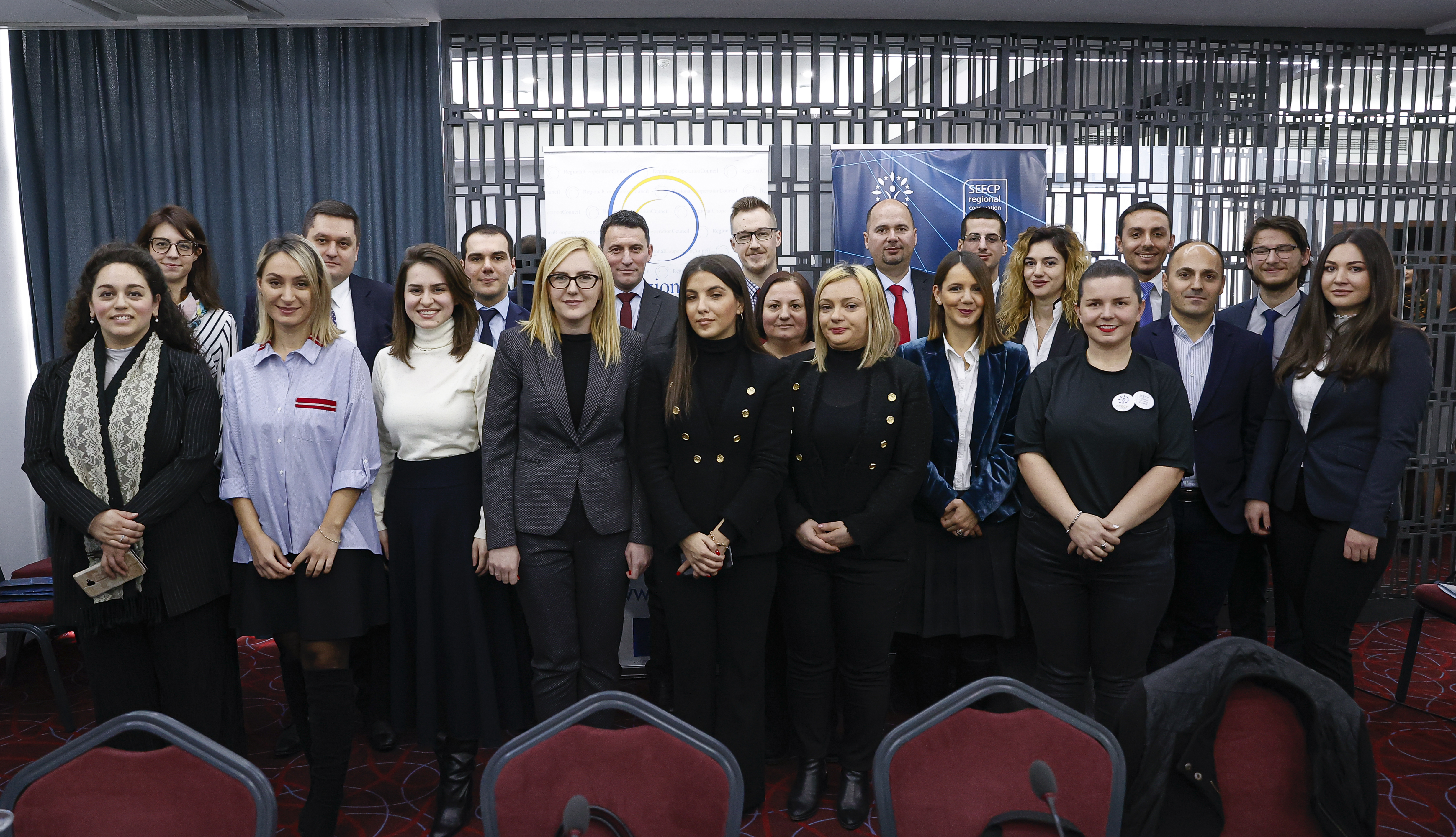 Future diplomats, participants of the 4th SEECP Seminar for Young Diplomats, organized by the RCC and the Kosovo's* Chairmanship of South East Europe Cooperation Process (C-i-O SEECP) in Pristina on 10 february 2020 (Photo: RCC/Valdrin Xhemaj)