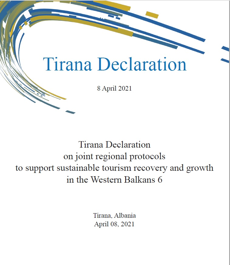 Tirana Declaration on Joint Regional Protocols to Support Sustainable Tourism Recovery and Growth in the Western Balkans