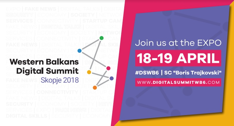The first Western Balkans Digital Summit is to take place on 18-19 April 2018 in Skopje
