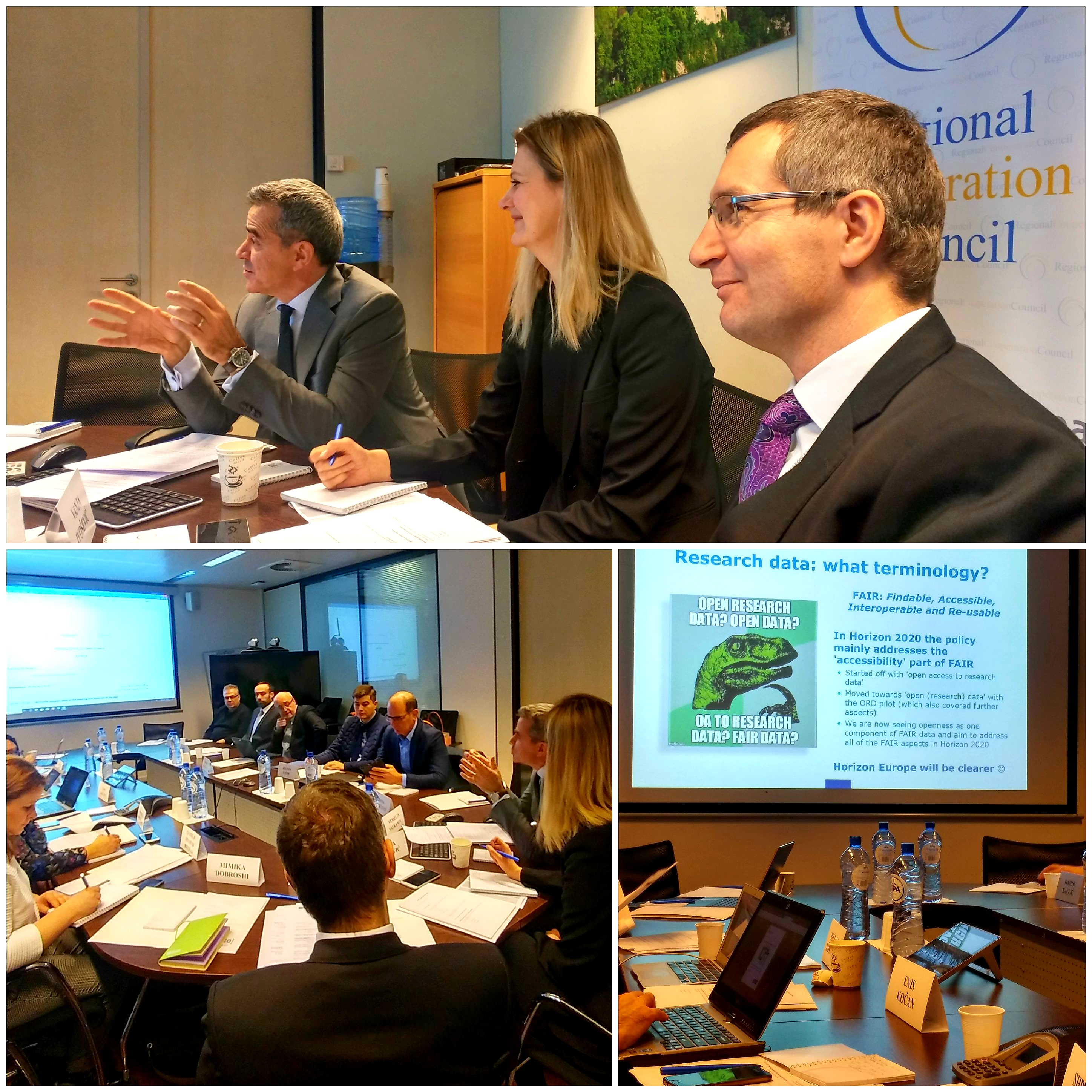 The Western Balkan (WB) economies presented current situation and actions undertaken in the development of Open Science and Open Access policies for research data at the meeting of the Working Group on Open Science, held under the auspices of the RCC in Brussels on 30 January 2019 (Photo: RCC/Mimika Loshi)