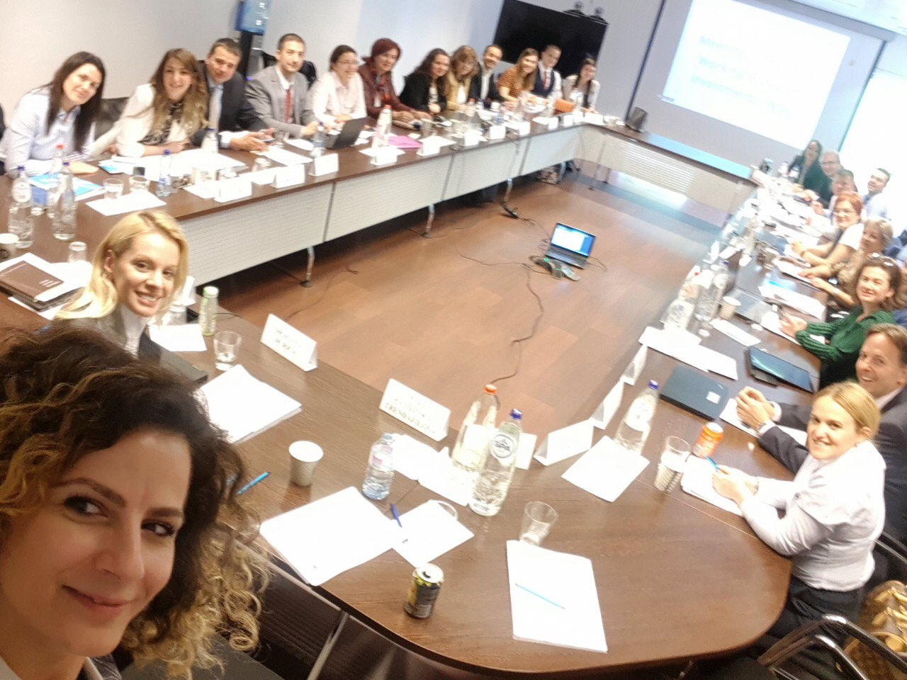 RCC's SEEIC - CEFTA Joint Working Group on Investments working on the finalisation of the Regional Investment Reform Agenda (RIRA) deliverable for Poznan Summit at the meeting in Brussels, 23 May 2019 (Photo: RCC/Ivana Gardasevic)