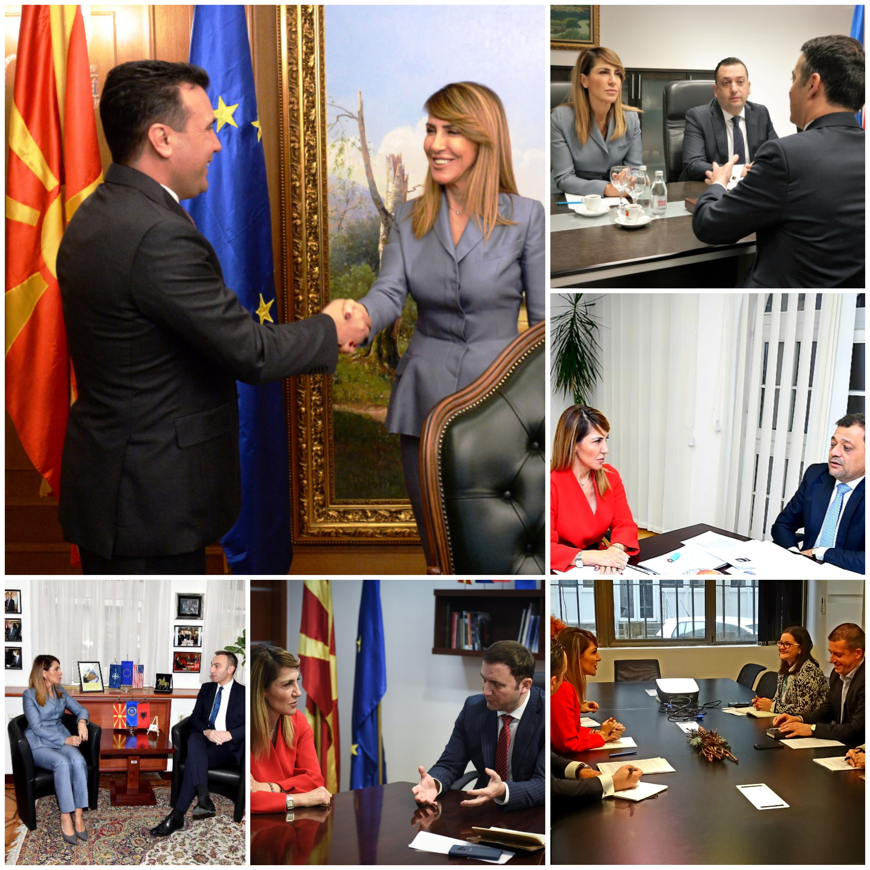 RCC Secretary General Majlinda Bregu meets top officials during her visit to Skopje on 21-22 January 2019