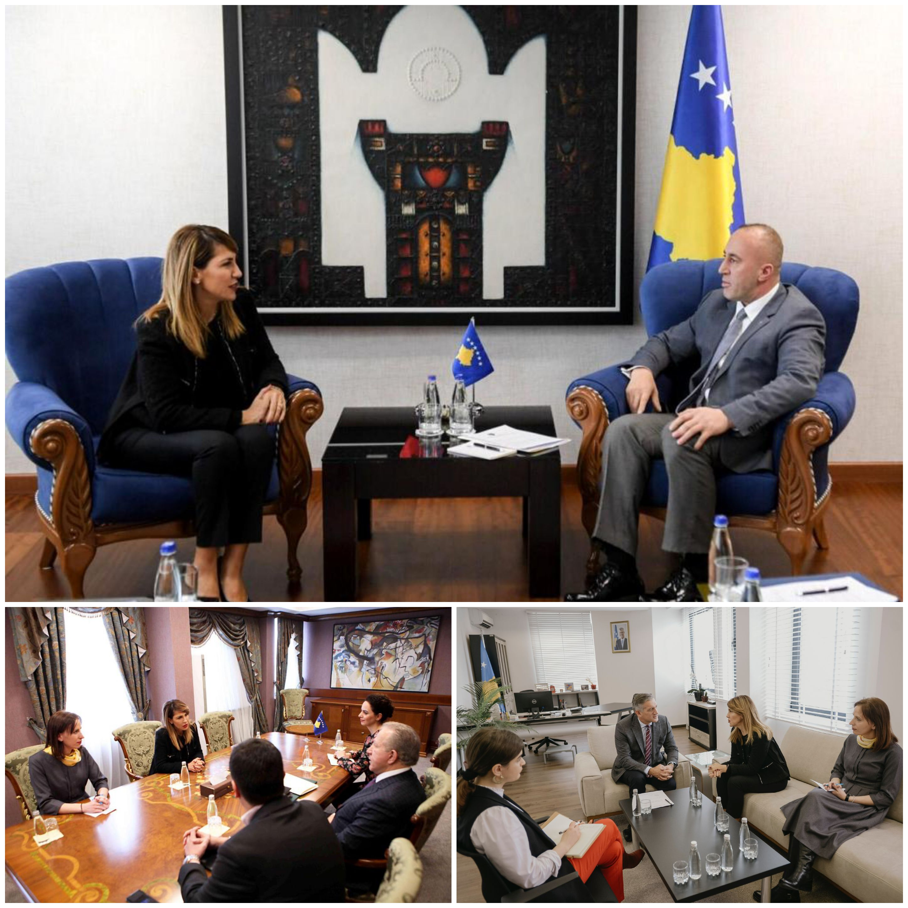 RCC Secretary General Majlinda Bregu meets top officials during her visit to Pristina on 18 January 2019