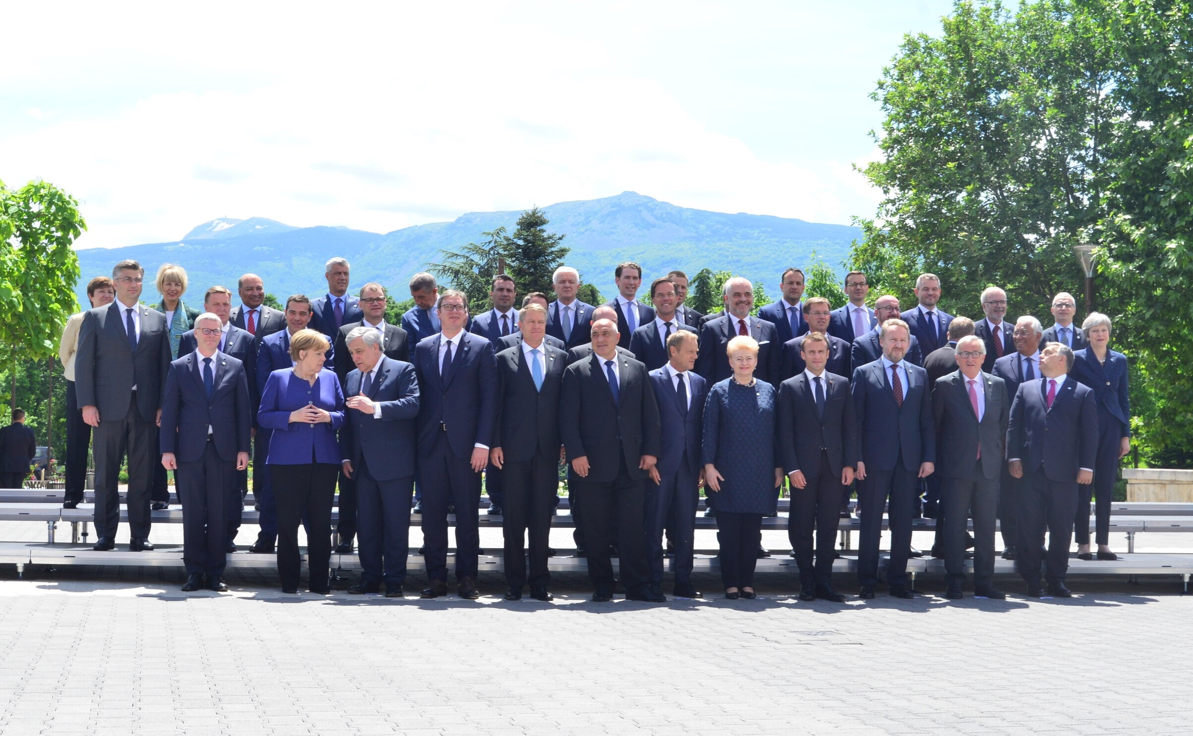 Participants of the  EU-Western Balkans Summit hosted by the Bulgarian Presidency of the Council of the EU, in Sofia on 17 May 2018. RCC Secretary General Goran Svilanovic - top row, first one on the right. (Photo: Yordan Simeonov (EU2018BG))