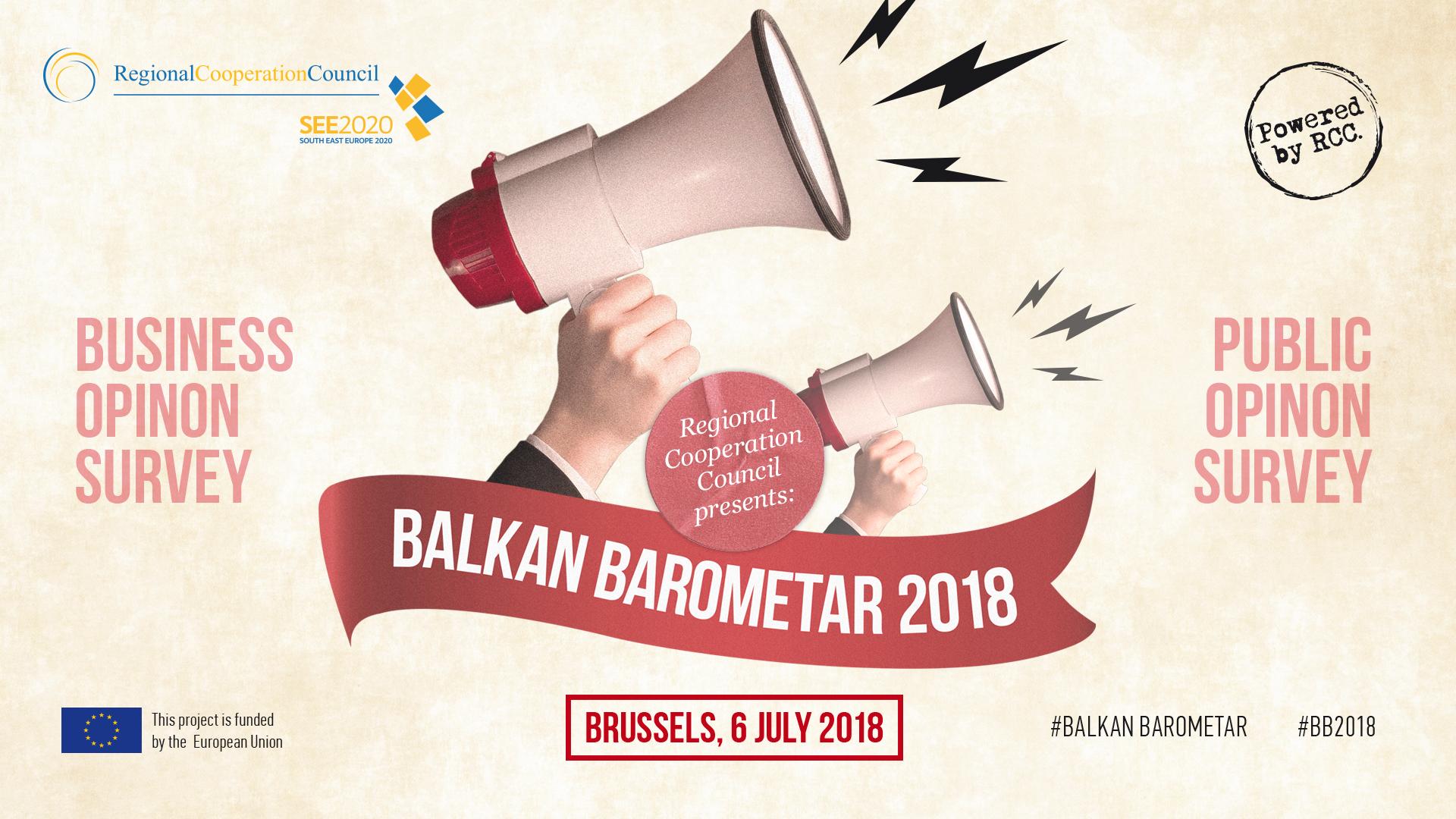 RCC Presents Balkan barometer 2018