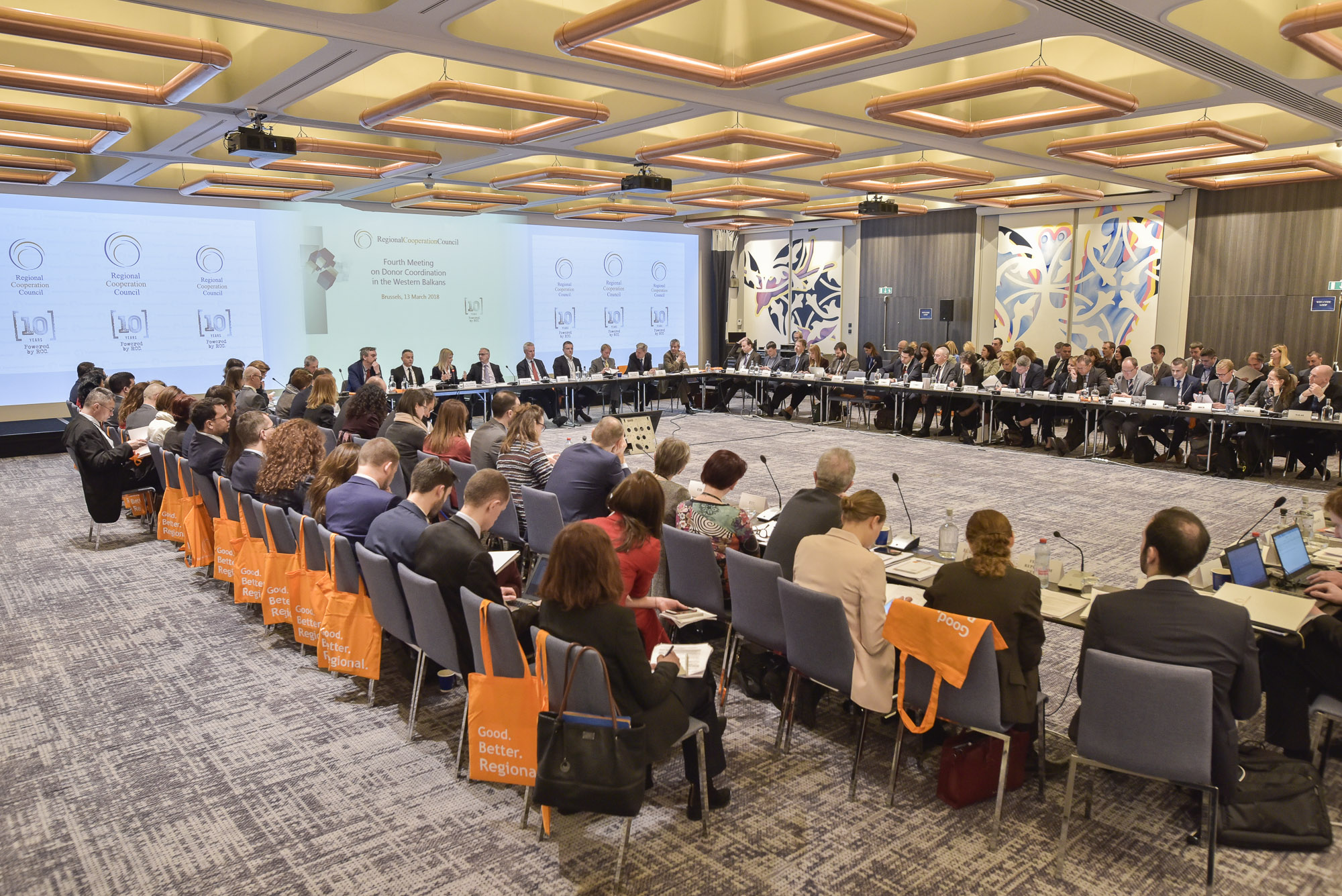 RCC hosts 4th Donor Coordination Meeting for the Western Balkans, on 13 March 2018, in Brussels, Belgium. (Photo: RCC/Jerome Hubert)
