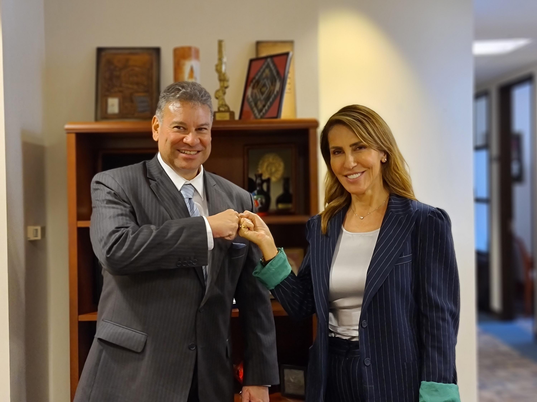 As a part of her official visit to Washington DC, RCC Secretary General Majlinda Bregu met with US State Department envoy for the Western Balkans, Gabriel Escobar, on 17 September 2021 (Photo: RCC/Selma Ahatovic Lihic)