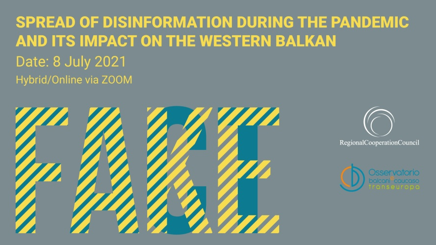 Regional Disinformation Conference 'Spread of disinformation during the pandemic and its impact on the Western Balkans'  (Design: RCC/Samir Dedic)