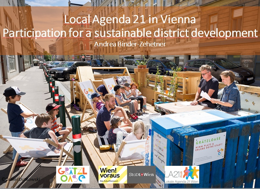 Presentation: Participation for a sustainable district development by Andrea Binder-Zehetner from Vienna's Local agenda 21