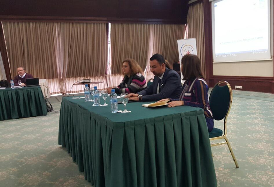 Mr Orhan Usein, Team Leader of the RCC's Roma Integration 2020 Action Team (in the middle) at the Public Dialogue Forum on Roma Integration in Skopje (Photo: RCC/Aleksandra Bojadjieva)