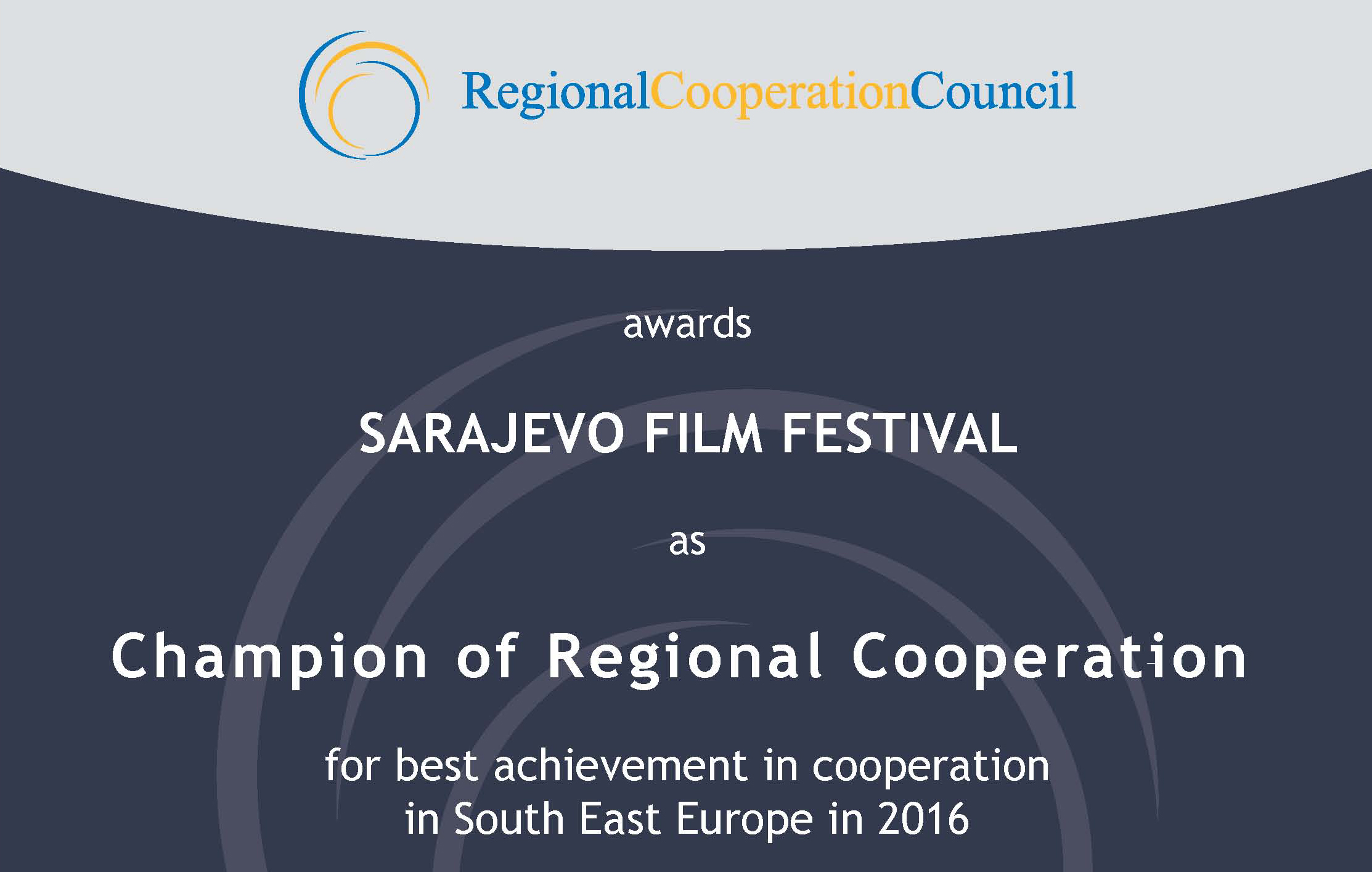 Champion of Regional Cooperation  for 2016