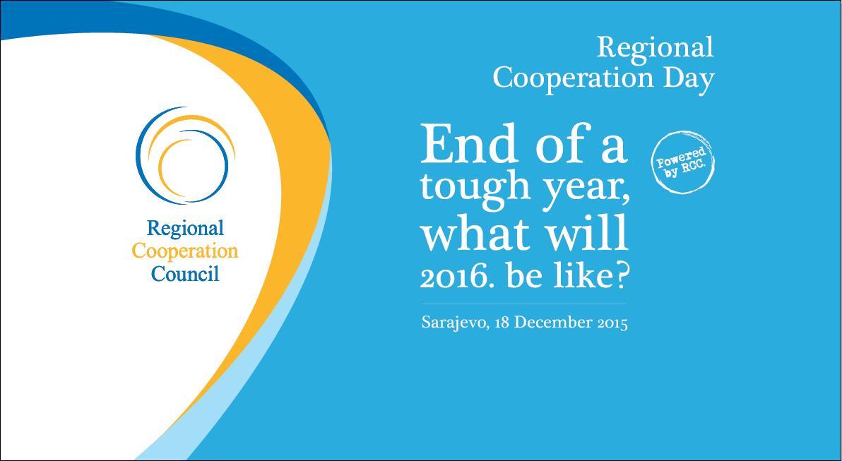 RCC hosts Regional Cooperation Day in Sarajevo on 18 December 2015. (Photo: RCC)