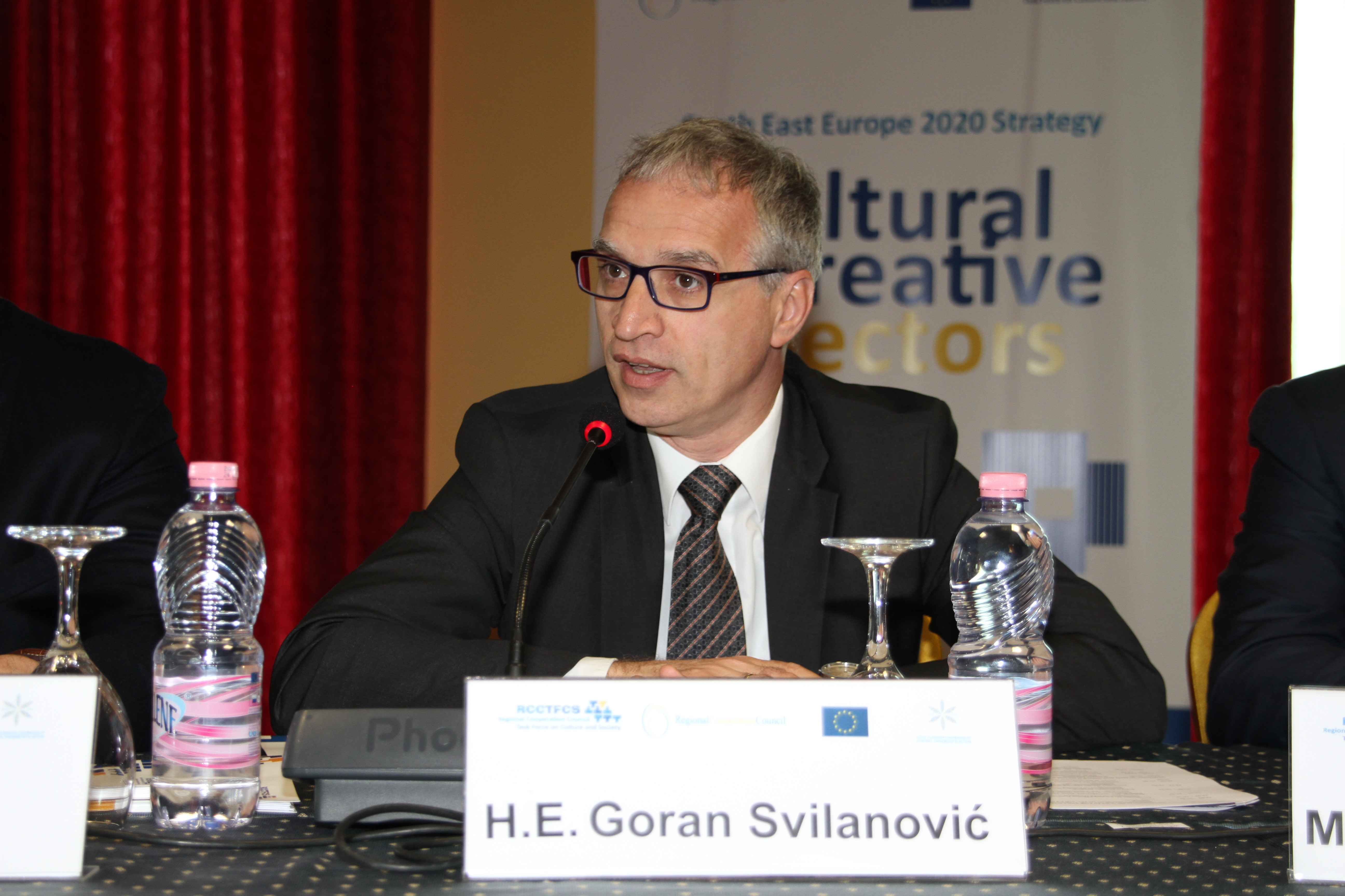 RCC Secretary General, Goran Svilanović, at the eleventh meeting of the RCC Task Force on Culture and Society, in Durres, Albania, on 29 April 2015. (Photo RCC/Mimika Loshi)