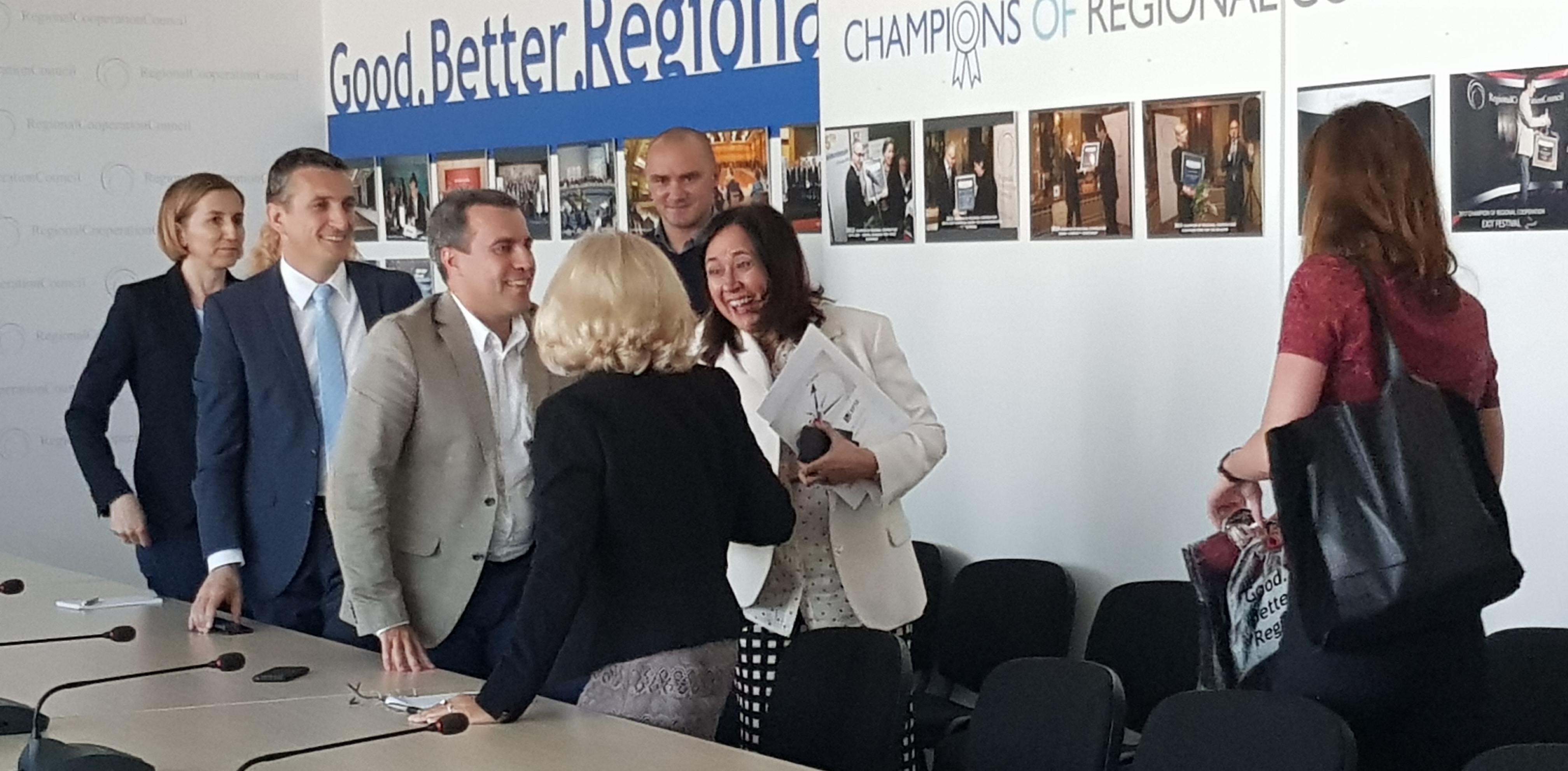 Genoveva Ruiz Calavera, Director for the Western Balkans at EC's DG NEAR visits RCC's Secretariat in Sarajevo, 2 July 2018 (Photo: RCC/Selma Ahatovic-Lihic)