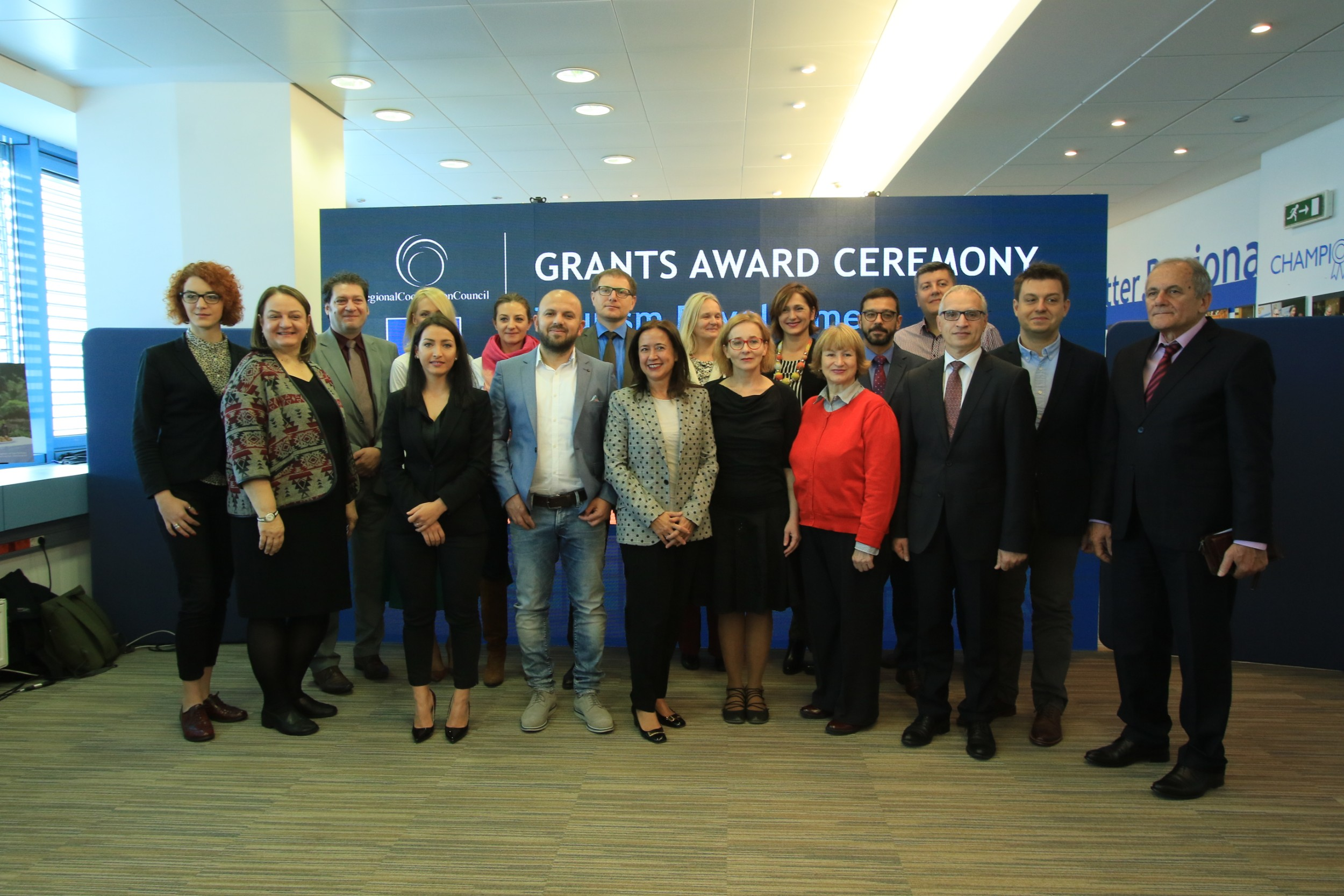 The Regional Cooperation Council (RCC)'s EU-funded Tourism Development and Promotion Project awarded the first twelve grants that will contribute to the expansion of the tourism offer in the region, in Sarajevo on 9 November 2018 (Photo: RCC/Armin Durgut)