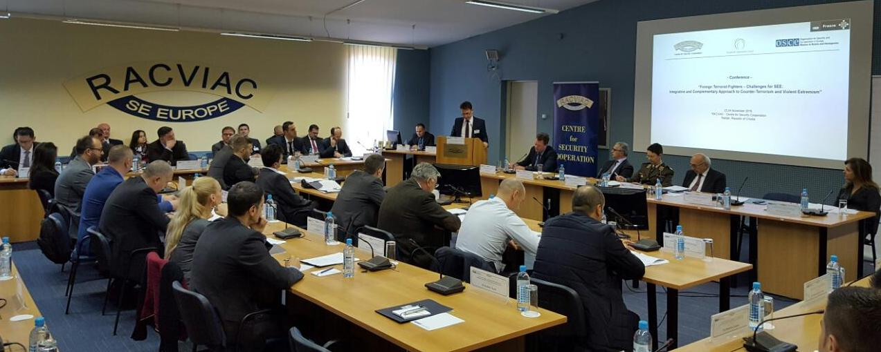 Conference Foreign Terrorist Fighters – Challenges for South Eastern Europe: An Integrative and Complementary Approach to Counter – Terrorism and Violent Extremism at RACVIAC, Zagreb, 23 November 2016 (Photo: RCC/Natasa Mitrovic)
