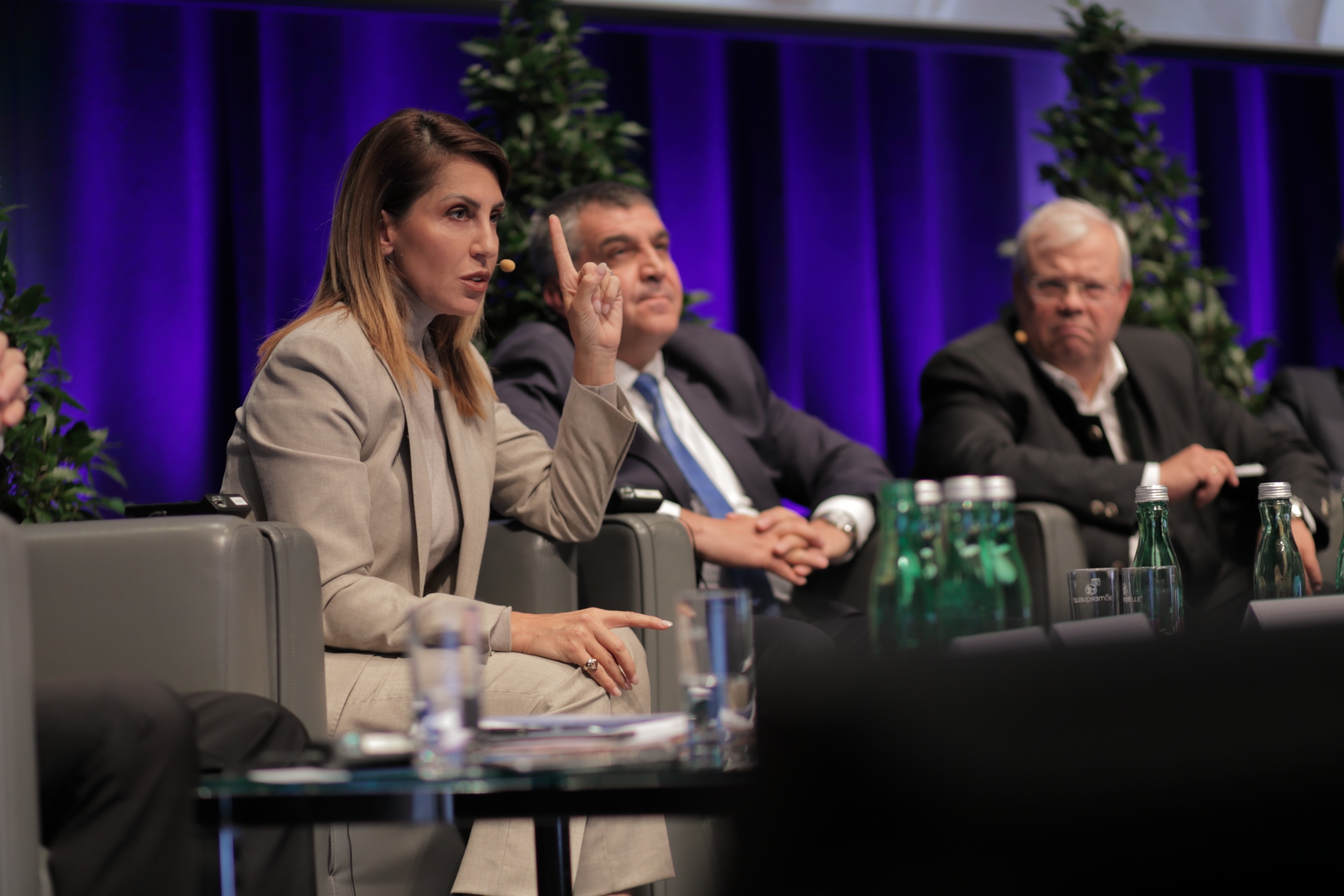 Majlinda Bregu, RCC Secretary General takes part at the 'Peace on the Western Balkans - Peace in Europe' panel session of the 15th Salzburg Europe Summit, in Salzburg, Austria, on 6-8 October 2019. (Photo: Elmas Libohova)