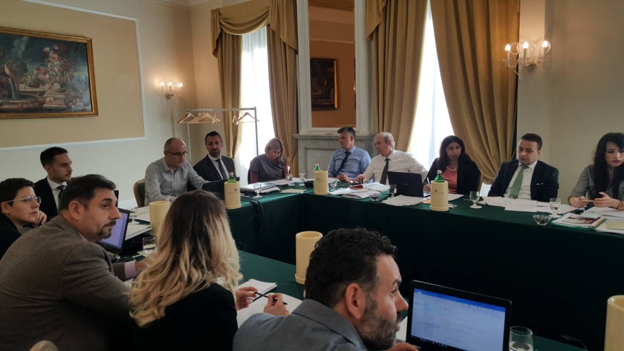 Participants of the 3rd Meeting of the Working Group for Developing Regional Standards for Roma Responsible Budgeting, on 8 November 2018 in Rome, Italy (Photo: RCC/Rada Krstanovic)