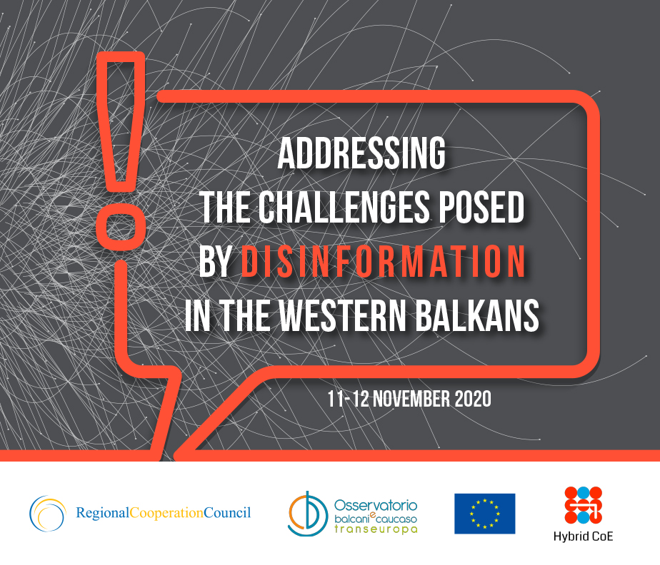 """Addressing the challenges posed by disinformation in the Western Balkans"" - Statement by the Regional Cooperation Council (RCC)"