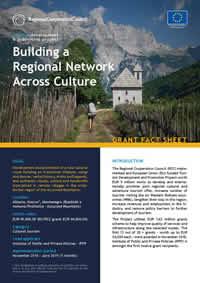 Building a Regional Network across Culture, GRANT FACT SHEET