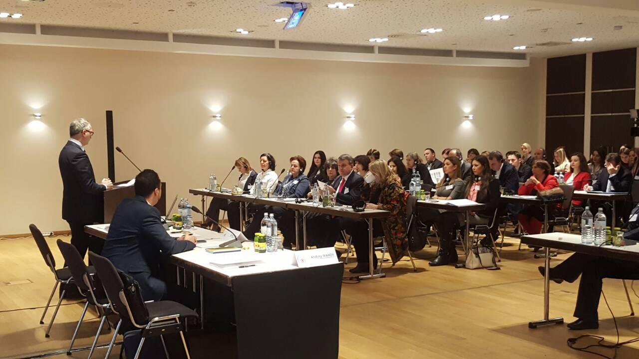 RCC Secretary General Goran Svilanovic opening regional workshop on monitoring and reporting, organised by RCC's Roma Integration 2020 (RI2020) Action Team in Vienna, 12-13 December 2016 (Photo: RCC/Alma Arslanagic Pozder)