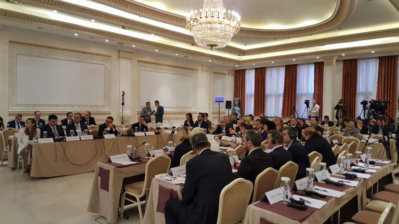 Trans-European networks and connectivity agenda were in focus of inter-parliamentary conference, co-organized by the RCC on 3 March 2017 in Pristina. (Photo: RCC/Natasa Mitrovic)