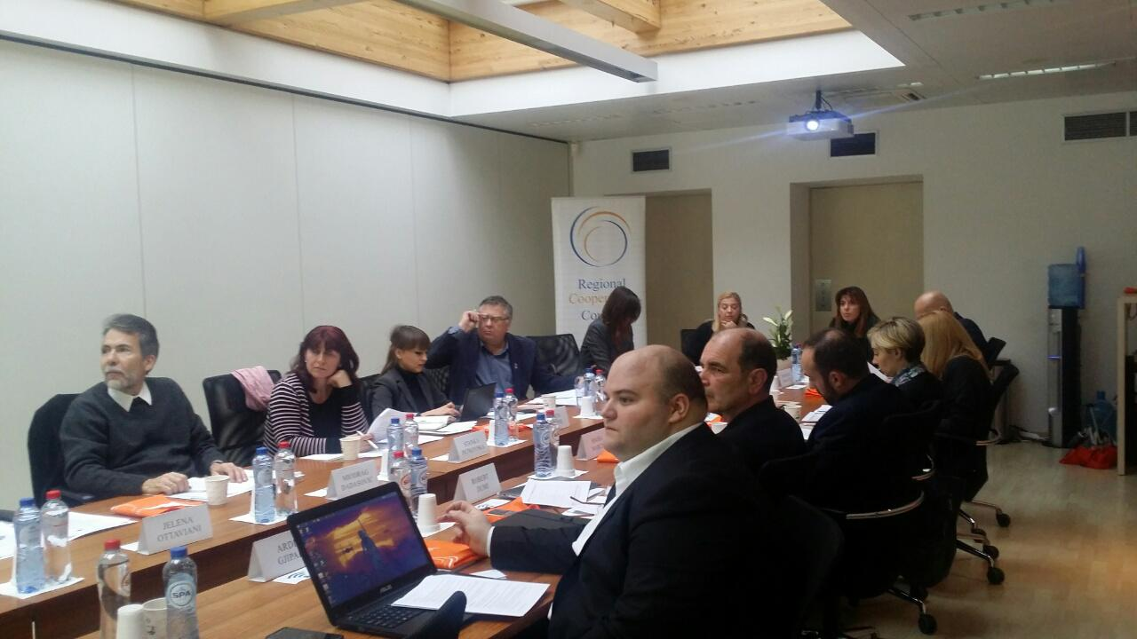 RCC and representatives of participating economies from the Western Balkans at the meeting of the Working Group on Open Science (WGOS) in Brussels, 9 November 2016 (Photo: RCC)