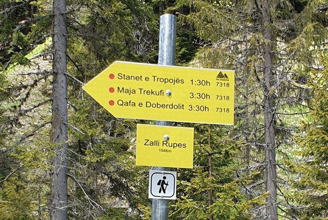 New marking is making it easier to navigate Accursed Mountains. (Photo: Community Development Fund)