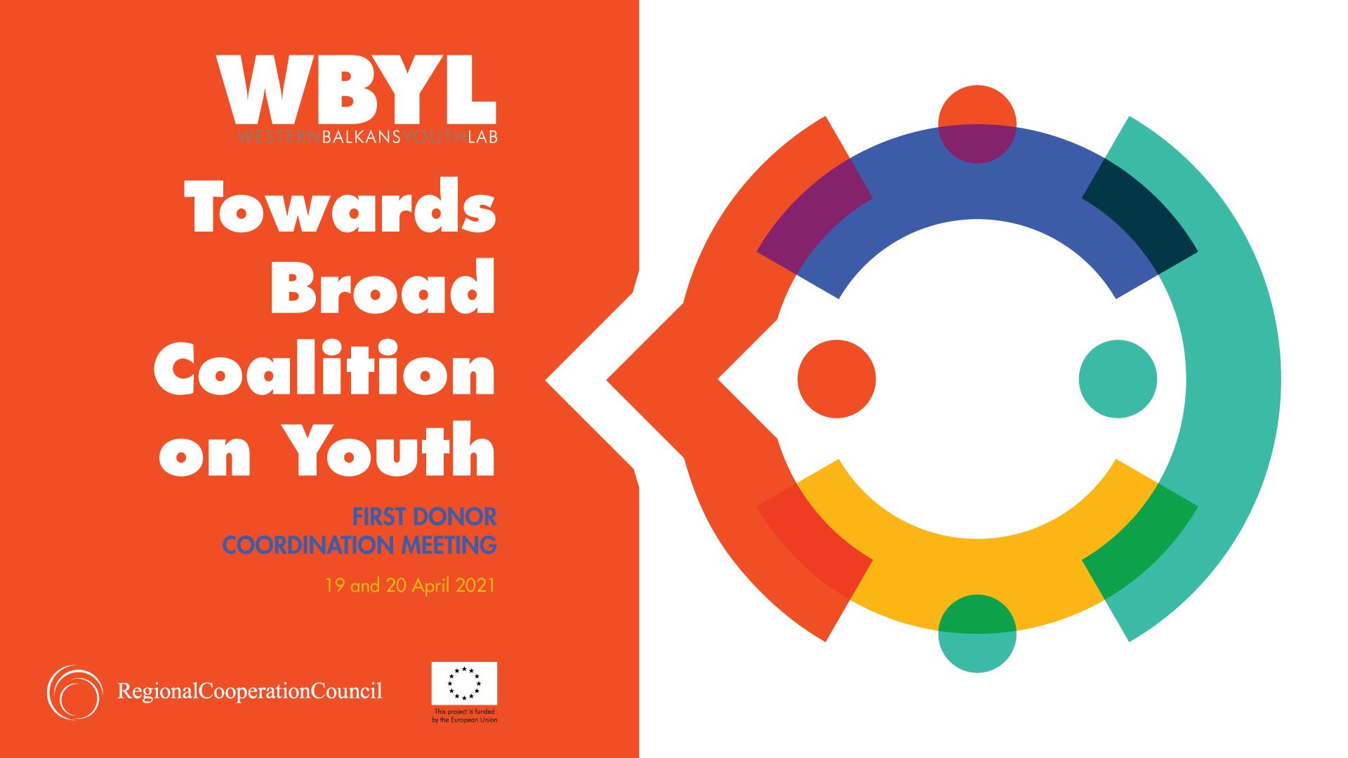 RCC's Western Balkans Youth Lab (WBYL) project organized the First Informal Donor Coordination Meeting on Youth Agenda in the Western Balkans on 19 and 20 April 2021 (Design: RCC/Samir Dedic)