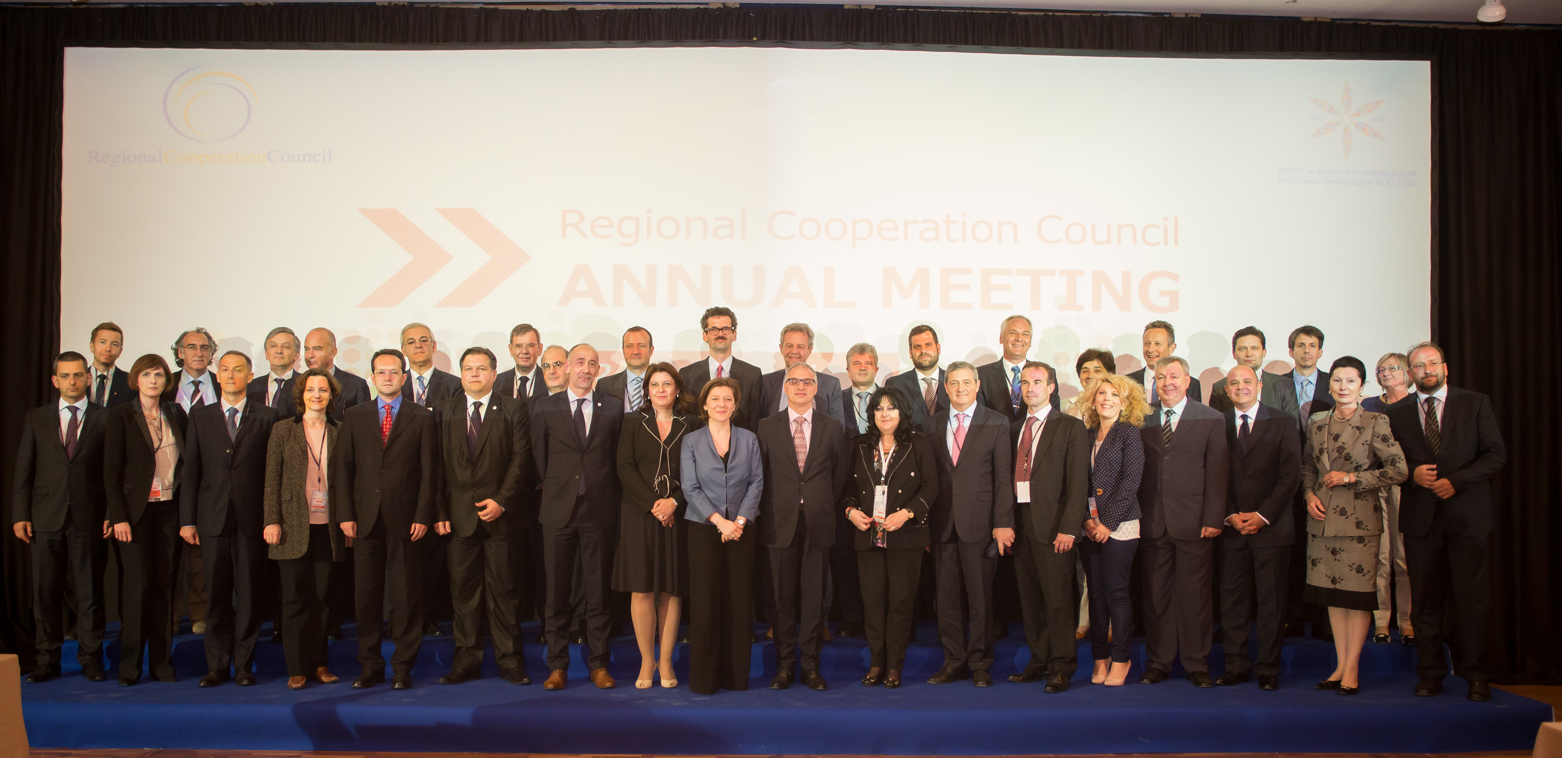 Participants of the RCC Annual Meeting, in Tirana on 22 May 2015. (Photo: Ministry of Foreign Affairs of Albania/Eriona Cami)