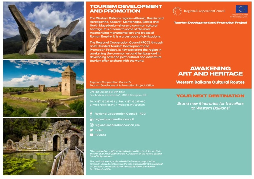 Western Balkans Cultural Routes: Awakening Art and Heritage flyer
