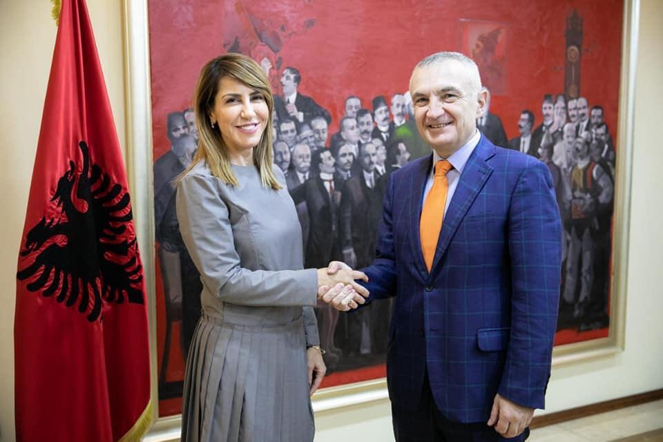 RCC Secretary General Majlinda Bregu meets the President of Albania, Illir Meta, on 1 February 2019 in Tirana. (Photo: Courtesy of the Office of the President)