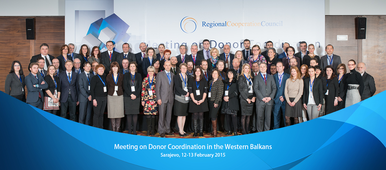 RCC hosted Meeting on Donor Corrdination in the Western Balkan, on 12-13 February 2015, in Sarajevo, BiH. (Photo RCC/Amer Kapetanovic)