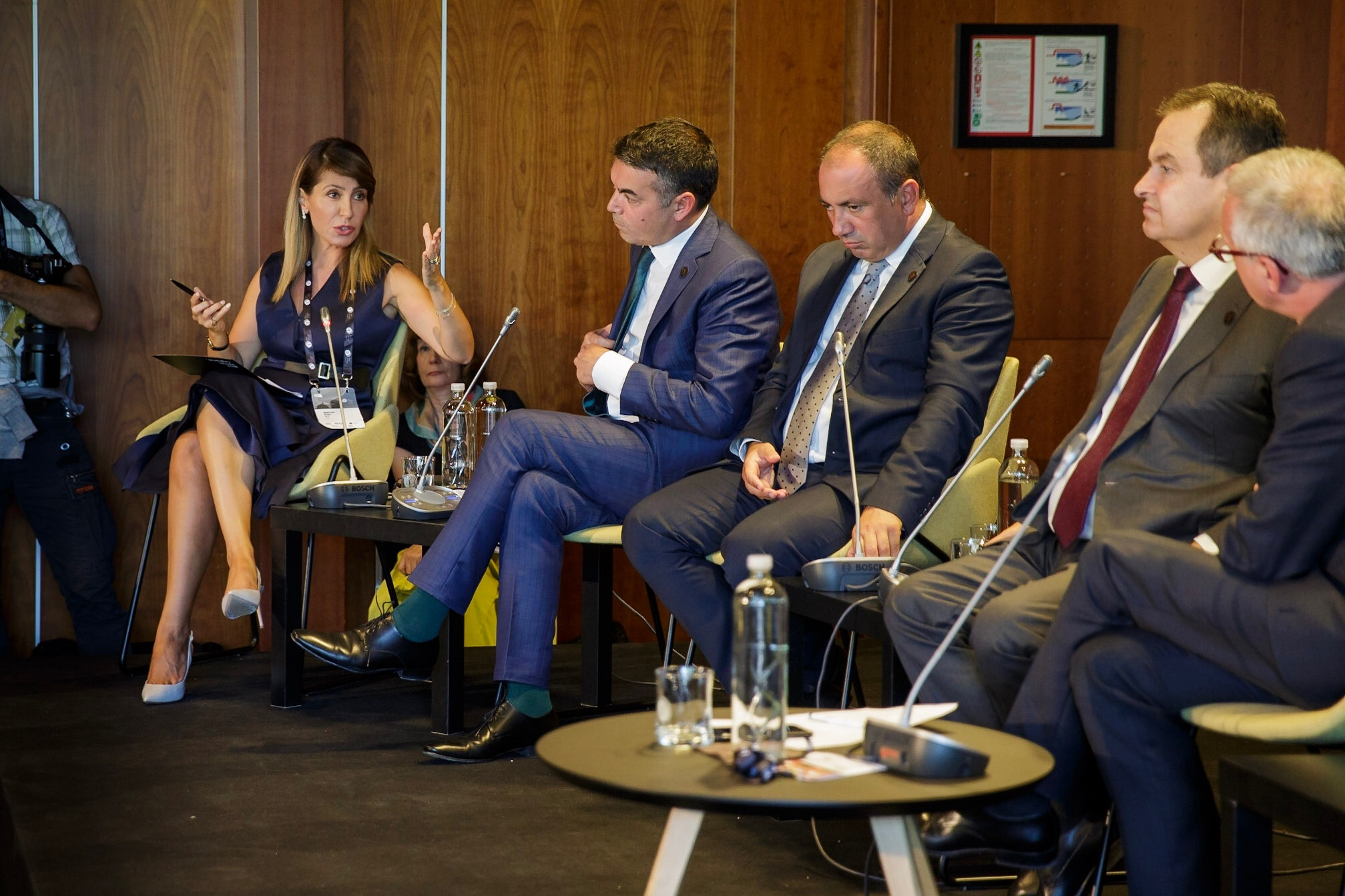 Majlinda Bregu, Secretary General of the Regional Cooperation Council (RCC) during the Panel dedicated to Western Balkans - Europeisation, Democratisation, Shared Responsibility at  the 14th Bled Strategic Forum, in Bled on 3 September 2019 (Photo: RCC/Matej Kolakovic)