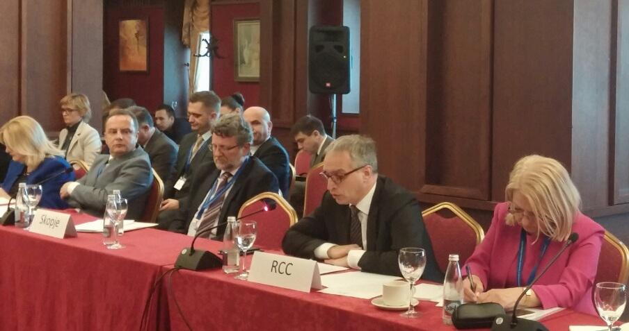 RCC Secretary General, Goran Svilanovic, on migration challenges in SEE at the second Informal Meeting of the Foreign Ministers of the South-East European Cooperation Process (SEECP) in Sofia on 2 February 2016. (Photo: RCC/Dorin Vremis)