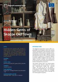 Hidden Gems of Skopje Old Town, GRANT FACT SHEET