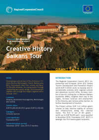 Creative History Balkans Tour, GRANT FACT SHEET
