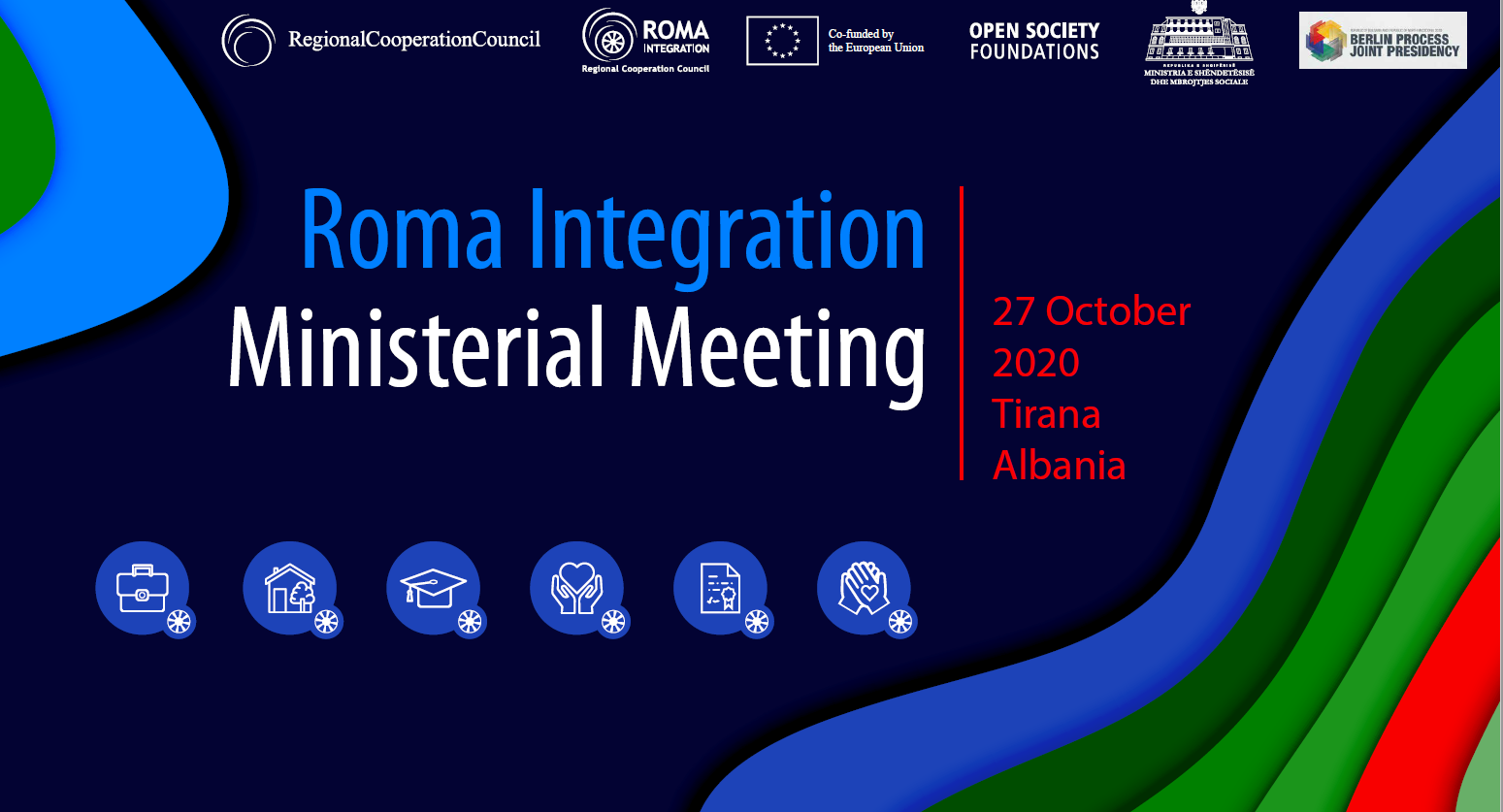 Tirana hosts Ministerial Meeting on Roma Integration on 27 October 2020, with housing, civil registration, data collection & budgeting in focus