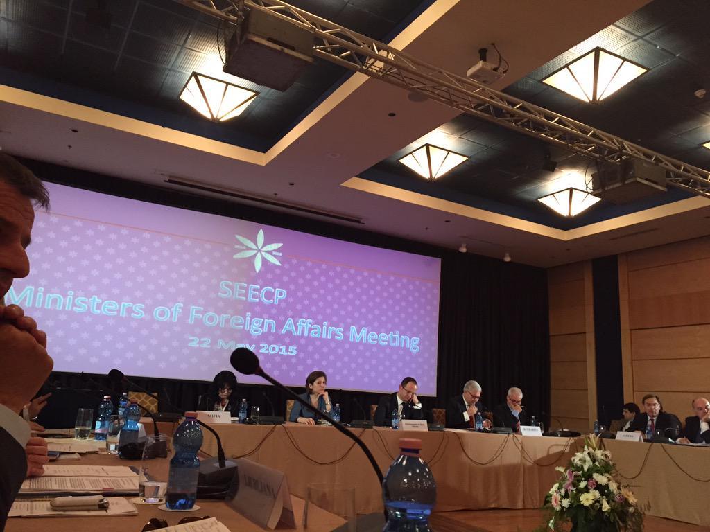 SEECP Foreign Ministers Meeting, Tirana, Albania 22 May, 2015 (Photo: @Petrit)