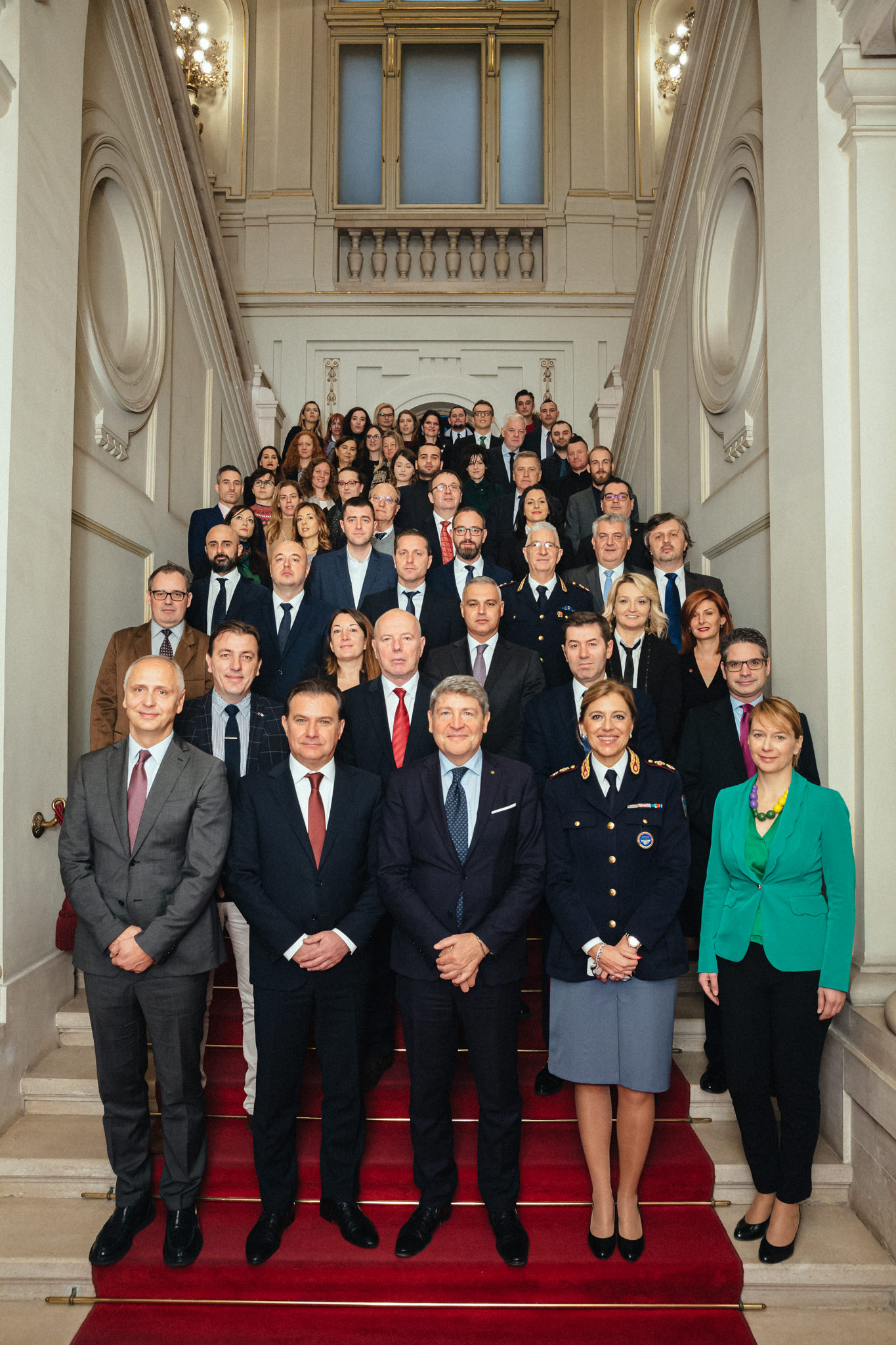 Participants of the Regional Response to Security Challenges in South East Europe conference, held in Trieste on 5 December 2019 (Photo: RCC/Matej Kolakovic)