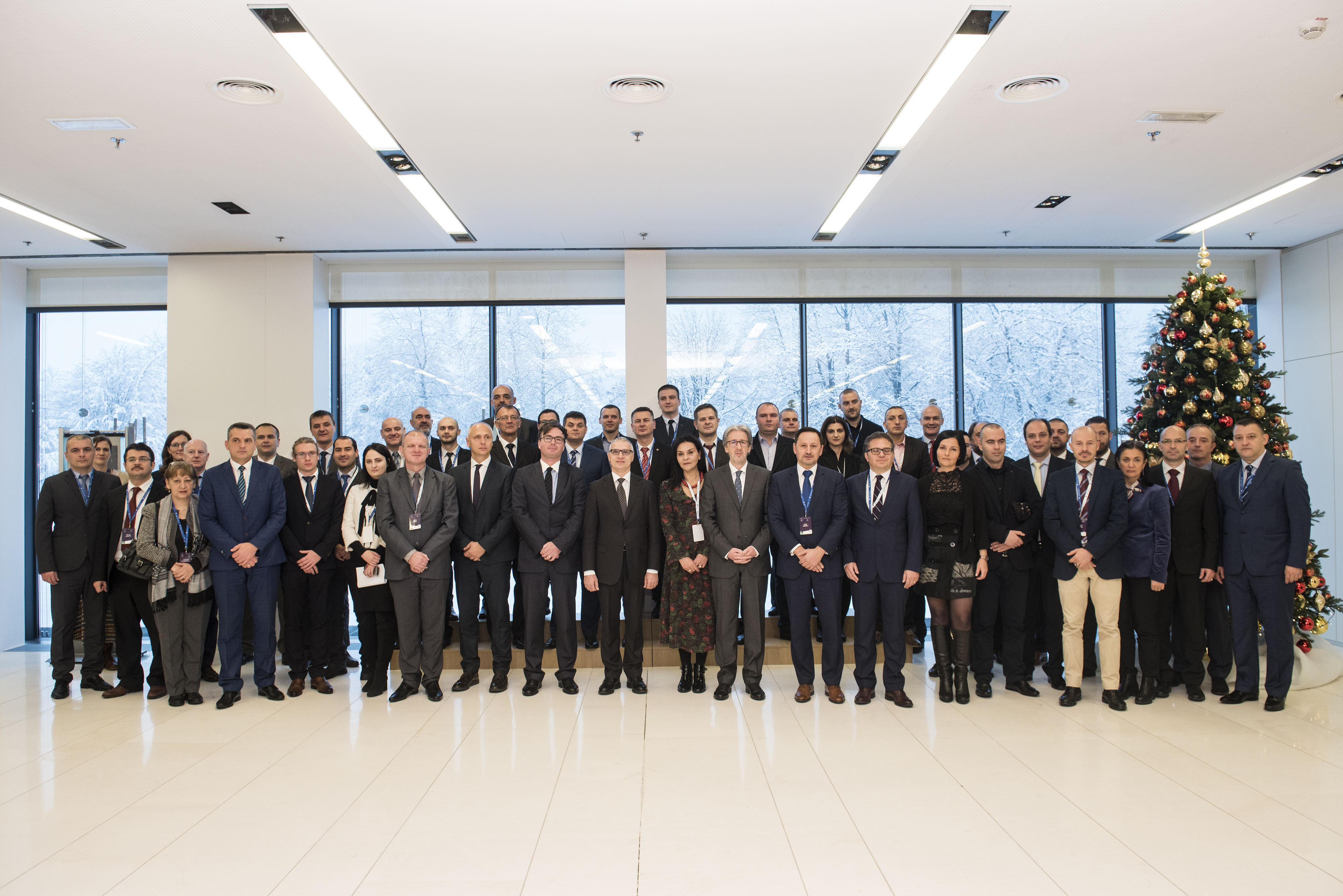Participants of the Second Regional Coordination Conference for Counter-Terrorism and Prevention and Countering Violent Extremism in South East Europe  in Brdo pri Kranju, Slovenia, on 30 November 2017 (Photo: RCC/ Bor Slana)