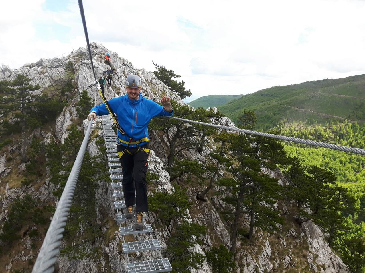 Via Ferata is one of the adventure tourism attractions along newly developed Mokra Gora Mountain trail (Photo: Institute for Territorial Economic Development)