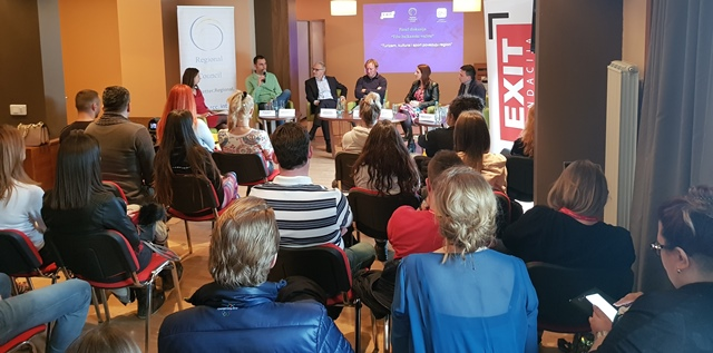"""RCC Secretary General Goran Svilanovic took part in the panel discussion of informal citizens' group from the Western Balkans """"Silent Balkan Majority titled """"Tourism, culture and sports connect the region"""", as a part of the RCC's support to the newest edition of EXIT Festival – Festival 84, that officially opened on Olympic mountain Jahorina, near Sarajevo, 15 March 2018 (Photo: RCC/Ratka Babic)"""