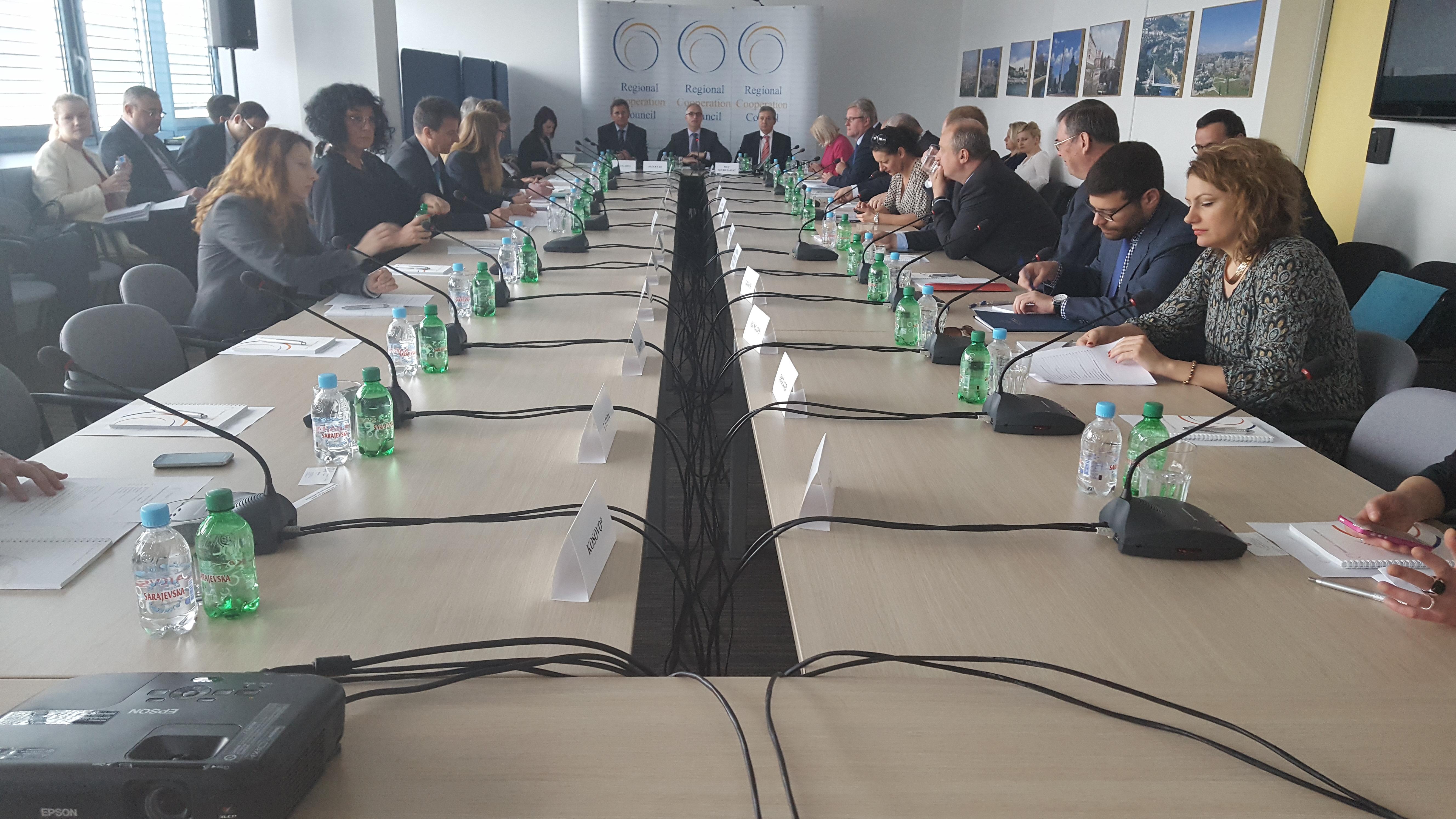 Meeting of the RCC Board, held in Sarajevo on 11 May 2016. (Photo: RCC/Selma Ahatovic-Lihic)