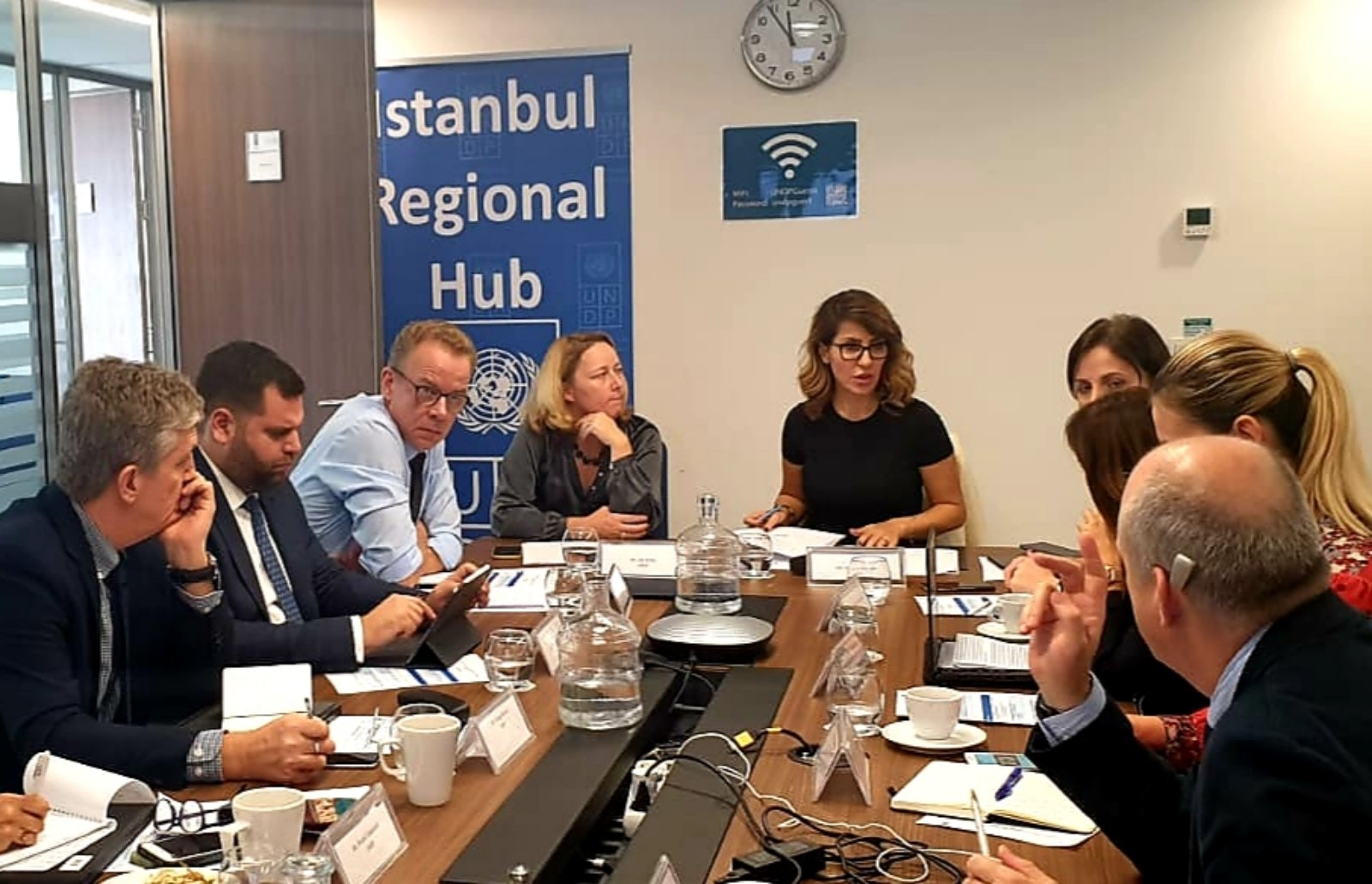 RCC Secretary General Majlinda Bregu with the team at the consultative meeting with UNDP in Istanbul, 5 November 2019 (Photo: Courtesy of UNDP)